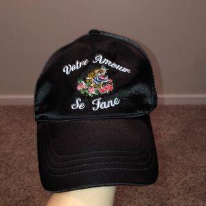 Forever 21 black glossy hat